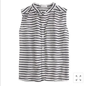 J. Crew 100% Cotton Striped Tank